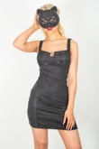 Black Glitter Party Cat Mask