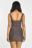 Plum Glitter Bralet Bodycon Dress