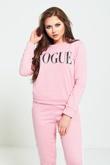 Pink Vogue Print Tracksuit Set