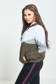 Khaki Sports Shell Bomber Jacket