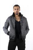 Charcoal Marl Textured Borg Lined Sweatshirt
