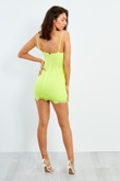 Lime Lace Satin Mini Dress