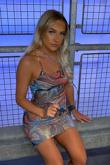 Multicolour Marble Print Slinky Asymetric Strap Bodycon Dress