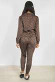Maze Printed Jacket And Trouser Co-Ord Set