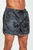 Mens Charcoal Camo Swim Shorts