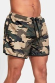 Mens Khaki Camo Swim Shorts