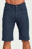 Mens Navy Anchor Print Chino Shorts