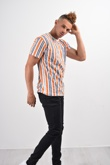 Orange Multi Stripe T-Shirt