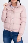 Dusty Hooded Zip Up Puffer Jacket