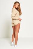 Beige Marl Knit Jumper And Short Set