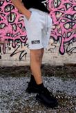 Mens Grey Drawcords Shorts