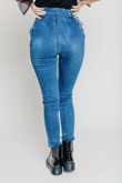 Hayley Hughes Modelled Denim Zip Front Lace Up Detail Skinny Jeans