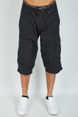 Mens Black Long Cargo Shorts