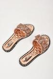 Rose Gold Diamante Bow Sandals
