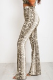 Snake Print Crop Cami And Flare Leg Trouser Co-Ord