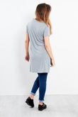 Grey NO1 Printed Side Split T-Shirt