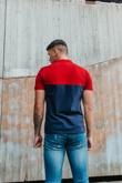 Mens Navy Colourblock Polo Shirt