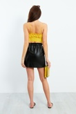 Yellow Ruffle Spaghetti Strap Crop Top