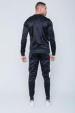 Mens Black Pocket Detail Zip Through Skinny Tracksuit