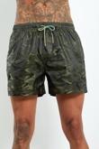 WW6153CCS- Mens Khaki Camo Multi Drawstring Swim Shorts