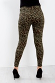 Khaki Leopard Print Skinny Jeans High Waist