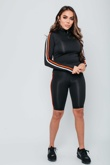 Arianna Ajtar Black Side Stripe Sweat Top And Cycle Short Co-ord