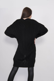 Black Cable Knit Pocket Detail Cardigan