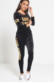 Black Love Fitness Velour Jogger Set