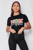 Black Multi Sequin Vogue Top