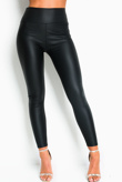 Black PU High Waisted Leggings