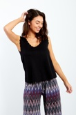 Black Scallop Edge Shell Top