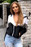Black Zip Through Hooded Jacket