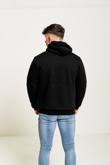 Mens Black Borg Fleece Zip Up Hoodie