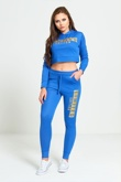 Blue Limited Edition Loungewear Cropped Hoodie Jogger Set