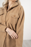 Camel Brushed Button Down Shacket