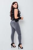 Chloe Brockett Charcoal Distressed Hem Skinny Jeans