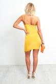 Orange Spaghetti Strap Bodycon Mini Dress