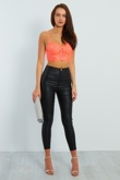 Neon Coral Lace Bralet