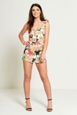 Floral Frill Straps Playsuit