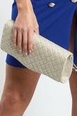 Gold Fancy Hand Clutch Bag