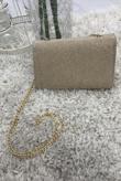 Gold Glitter Cross Body Bag