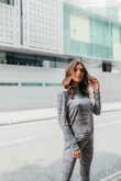 Grey Marl Long Sleeve Basic Loungewear Set