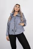 Grey Hooded Waterproof Festival jacket