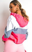 Neon Pink Sports Shell Bomber Jacket