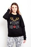 Black Team Rudolph Christmas Sweatshirt