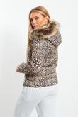Brown Tiger Fur Hood Jacket