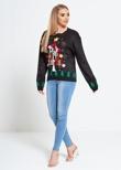 Black X-Mas Star Tree Knitted Christmas Jumper