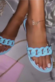 Baby Blue Chain Sliders