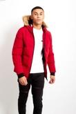 Mens Fur Hood Parka Coat