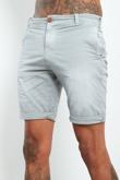 Mens Grey Faded Turn Up Shorts